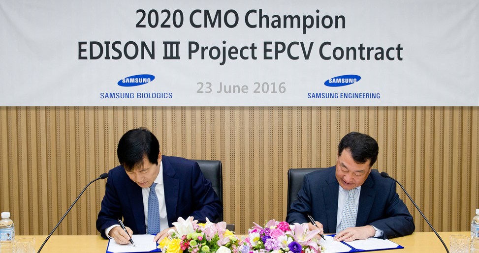 Awarded  EDISON III Project from Samsung BioLogics in Korea